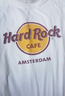 Original Vintage Hard Rock Cafe Amsterdam Unisex T Shirt M Cotton