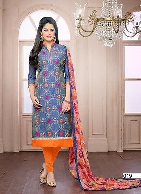 Pakistani Indian Designer Embroidered Partywear Shalwar Kameez Suit