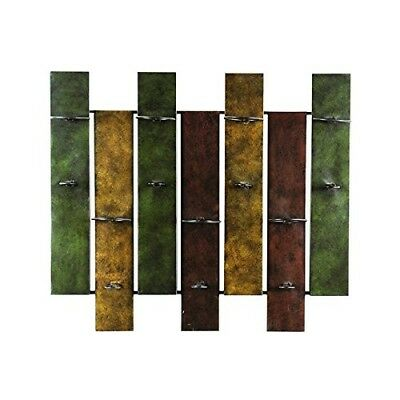 Decorative Nora 7-bottle Wall-mount Durable Metal Wine Rack in Distressed