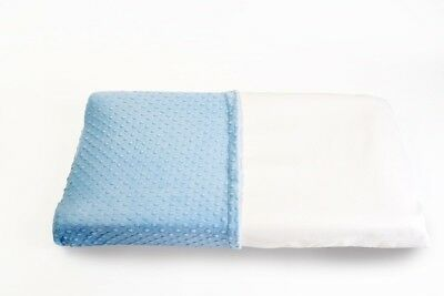 Less Mess Wipeable Changing Table Pad Cover in Light Blue - Waterproof, Non