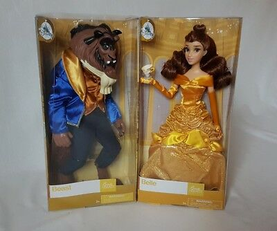 New Disney Princess Beauty and the Beast Set of Two Classic Dolls Belle Beast