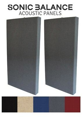 2X Bass Traps (GREY) -  Acoustic Panels for Pro/Home Studio or Rehearsal Space