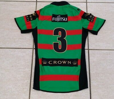 Nrl South Sydney Rabbitohs Player Issue Game Jersey W Grips #3