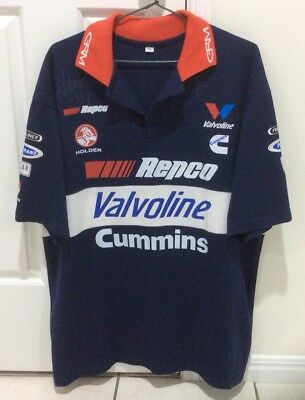 Holden Valvoline Cummins Jamie Whincup Signed Polo Shirt,holden Polo Shirt Xl
