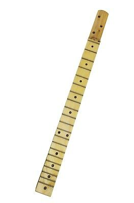 23-inch Scale Fully Fretted Bolt-On Neck for 3-String Cigar Box Guitars
