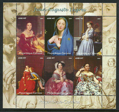 Mozambique #1729-32 Mint Never Hinged Mini Sheets - Paintings