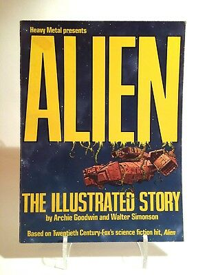 Alien The Illustrated Story presented by Heavy Metal Comic Book 1979.