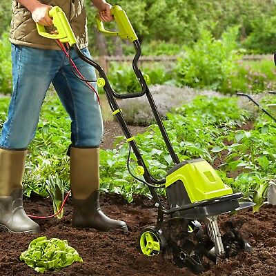 Cultivator Rotavator Electric Tiller Soil Powerful 1400W 6 Blade NEW Garden Gear