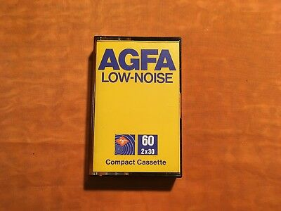 1 x AGFA LOW-NOISE 60 Cassette,IEC I/Normal Position,Top Zustand,rare,1979
