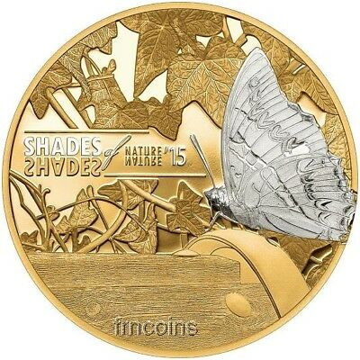 2015 Cook Islands 5$ Butterfly Shades of Nature series silver coin