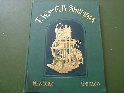 T.w. & C.b. Sheridan Paper Cutters & Bookbinders Machinery Catalogue Info Below