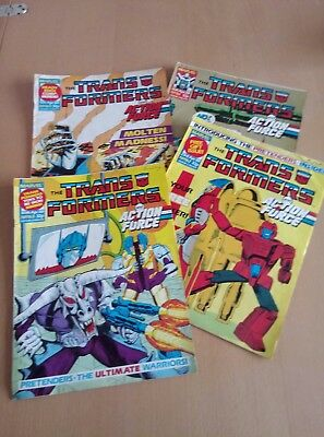 Marvel Transformers Comics - April 1988 Issues 160-163