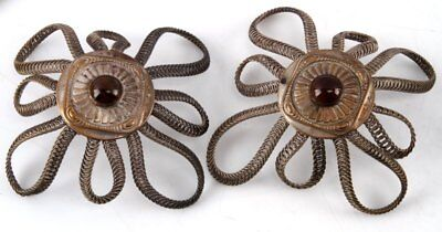 Set Of 2 Antique Wild West Show Fancy Horse Bridle Rosettes