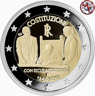 Italy 2 euro coin 2018 - 70th anniversary of the birth Italian Constitution- UNC