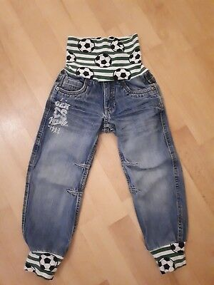 Upcycling Jeans, Pumphose, Mitwachshose Ge. 104-116