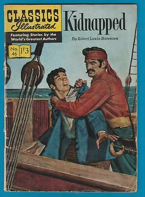 Classics Illustrated Comic Book #46 Kidnapped by Robert Louis Stevenson  #708