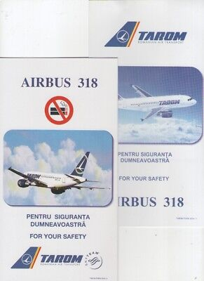 TAROM      TWO DIFFERENT      Airbus  A318       Safety Cards