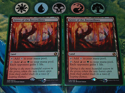 Magic 2x Grove of the Burnwillows Iconic Masters rare MTG