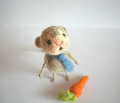 Mr. Ratón - needle felted rat - Custom needle felted animal pet
