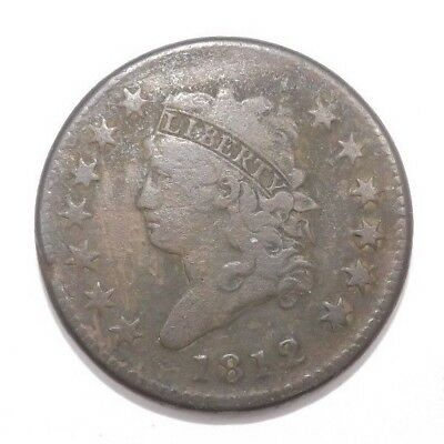 1812 Classic Head US Large Cent Penny Coin (T1008)