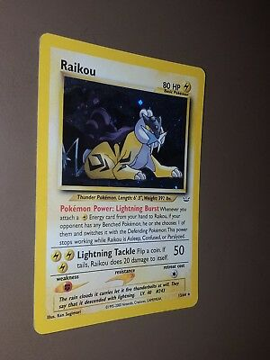 Pokemon - raikou holo in inglese - set neo revelation