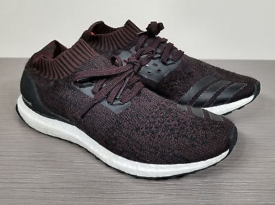 low priced 866b6 a7197 ADIDAS ULTRABOOST Uncaged, Black / Burgundy Prime Knit, Mens Size 10 / 44