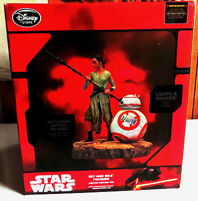 Star Wars Force Awakens Statue Rey And Bb-8 Figurine Limited Edition 700 Disney