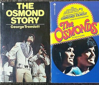 The Osmonds Osmond Family Story Donny Marie 2 Books Music TV Tremlett Dunn Rare!