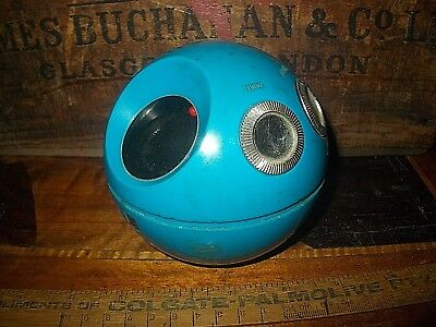 National Panapet AM Radio,1970s Blue Ball, Working, tested today, minor scuffs