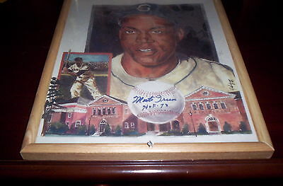 Price Reduced, Hess Like, Hof,  Monte Irvin Autograph Lithograph,