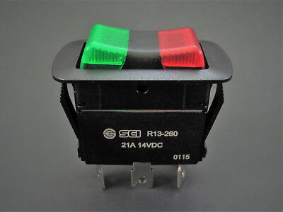 Illuminated SPDT On-Off-On - Waterproof Rocker Switch - 21A @ 14V - NTE 54-241W