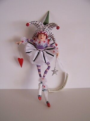 Patience Brewster Josie Joker Of Hearts Ornament. Nib.