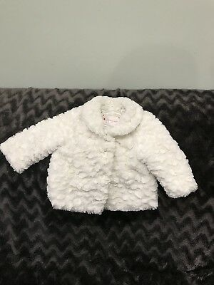 Autograph White Faux Fur Coat 6/9 Months