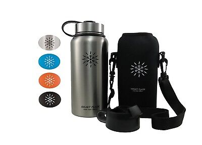 (Stainless Steel) - Smart Flask Stainless Steel Water Bottle, 4 Colours,
