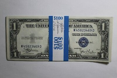 9 Pack 1935 C Silver Certificate 1 Dollar Notes UNC