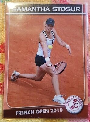 Samantha STOSUR 2010 French Open card #03/05 Edition True Fan FA Tennis