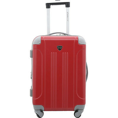 "Travelers Club Luggage Modern 20"" Hardside Expandable Hardside Carry-On NEW"