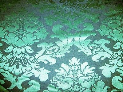 Furnishing Fabric, Dark Green Brocade  54 x 74 inches