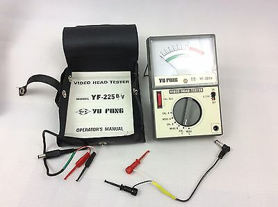 VHS VIDEO HEAD TESTER MODEL YF-225v BY YU FONG - with case and box