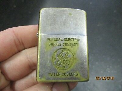 Rare Vintage 1957 Adv. General Electric Supply Ge Water Coolers Zippo Lighter