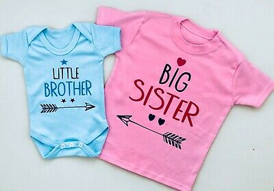 Baby clothing LITTLE SISTER/LITTLE BROTHER and BIG SISTER/BIG BROTHER 2pc set