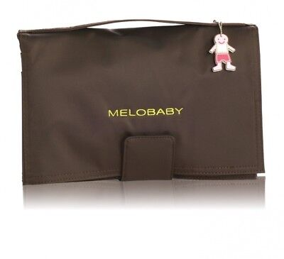 MELOBABY All-In-One Nappy Wallet and Change Mat (Brown and Lime Green)