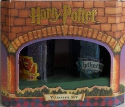 Harry Potter Set of 2 Tumblers: Gryffindor and Slytherin Houses. Huge Saving