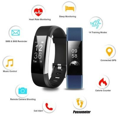 Fitness Activity Tracker Bluetooth Smart Band Watch Heart Rate Sports UK Seller
