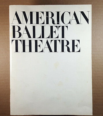PROGRAM *AMERICAN BALLET THEATRE*  42nd SEASON  1981 VINTAGE PHOTOS- BOOK