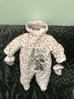Pink Disney Minnie Mouse Snowsuit 3/6 Months