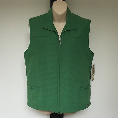 'black Pepper' Bnwt Size '10' Green Padded Vest With Zip Front & Pockets