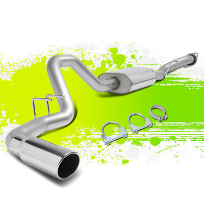 """Stainless Steel Catback Exhaust System+4""""rolled Tip For 99-07 Silverado/sierra"""