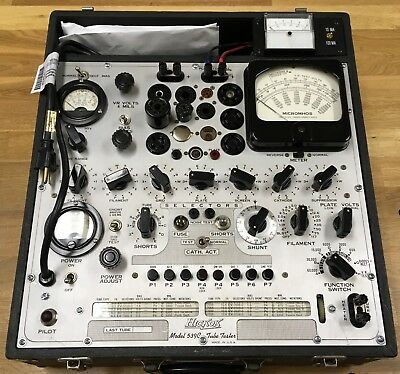 HICKOK 539C TUBE TESTER with PLATE CURRENT METER - SERVICED, CALIBRATED, WORKING