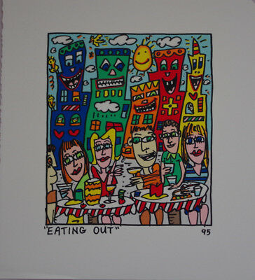 "James RIZZI - Farblitographie ""Eating out"""